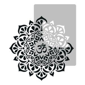 Wiederverwendbare Wandschablone aus Kunststoff // Durchmesser 118cm // OM Mandala // Muster Schablone Vorlage