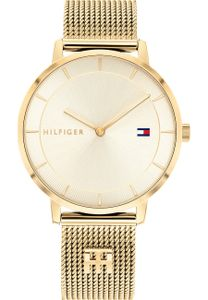 Tommy Hilfiger Damen Analog Gold/Gold Edelstahl Armbanduhr | 1782286