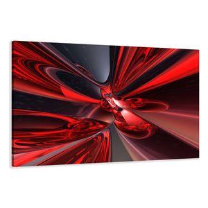 120 x 80 cm Bild auf Leinwand abstrakt rot 5137-VKF deutsche Marke und Lager  -   fertig gerahmt , exklusive Markenware von Visario