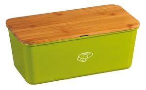Kesper Brotbox aus Melamin, 34 x 18 x 14 cm, mit em Bambusdeckel, 2in1 - Deckel und Schneidbrett, in grün