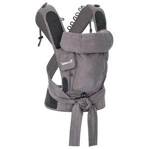 Hoppediz® Bondolino Plus  Jacquard, Design: London grau-schwarz , One Size mit Aufbewahrungsbeutel und bebilderte Bindeanleitung