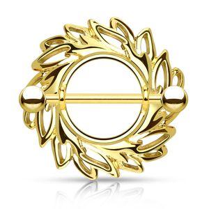 Brustwarzen Piercing 14 Karat vergoldet Nippelpiercing Brustpiercing Schild Autiga®