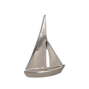 Segelboot SAILOR silber Aluminium Boot Schiff Metall maritim Segelschiff K