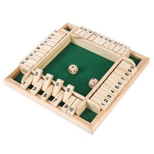 Hölzerne vierseitige Zahl Flip-Karte Linie trinken Brettspiel Holzspielzeug #4