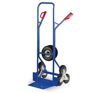 Protaurus Treppenkarre mit Dreisternen und zusätzlichen Lufträdern 300kg Traglast