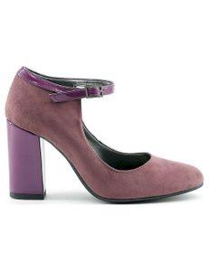 Italia Damen High Heels Pumps Damenschuhe, mit Schnalle, Größe:39, Farbe:Violetttt-dunkelmagenta