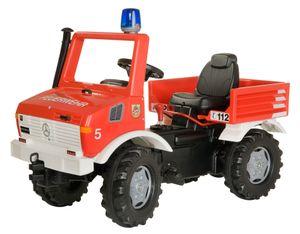 rolly toys Fire Unimog Tretfahrzeug Schaltung, Bremse , Maße: 118x54x81 cm; 03 663 9