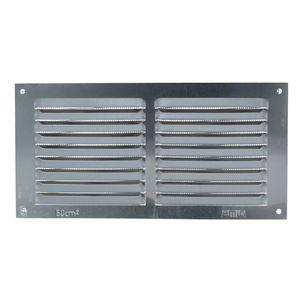 Aluminium Lüftungsgitter mit Netz Lüftungsblech Insektenschutzgitter 100x200mm