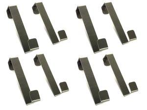 8x Universal-Türhaken Tür Kleiderhaken Türhänger Garderobenhaken Handtuchhalter