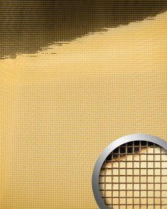 Dekorpaneel Wandverkleidung WallFace 10592 M-Style Design-Platte EyeCatch Metall Spiegel Mosaik Einrichtungs selbstklebend tapete gold 0,96 qm
