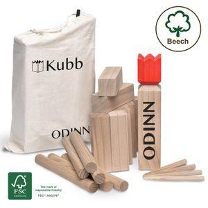 Toyfel KUBB Spiel Odinn Buche - XXL Holzspiel Wikinger Spiel Outdoor