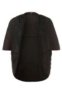 ULLA POPKEN Strickjacke, moderne Form schwarz NEU, Größe:46_48