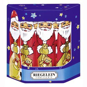 Riegelein Weihnachtsmann aus Vollmilchschokolade Massiv groß 125g