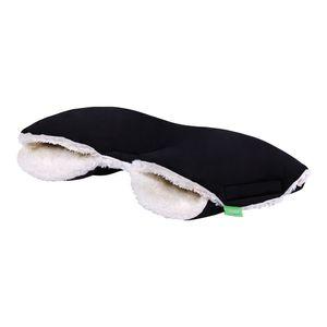 LULANDO Handwärmer Handschuhe Handmuff Muff für Kinderwagen Buggy Kinderwagenmuff wasserdicht warm kuschelig ideal für Winter, Farbe:Black