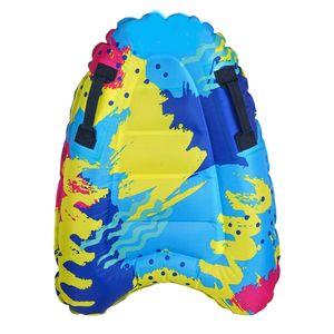 Tragbare Aufblasbare Surf Body Board mit Griff Durable Schwimmen Schwimm Matte Farbe Multi