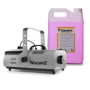 Beamz S1500 Nebelmaschine mit 5-Liter-Nebelfluid - DMX , 1500 W , Stand-Alone-Modus , 2 Liter Tank , Füllstandsanzeige , einstellbare Intensität , schwarz