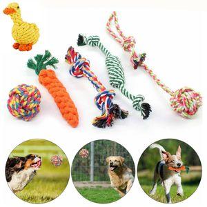 6er Set Hunde Spielzeug aus Seil Kauspielzeug Katze Welpen Kauen Hundespielzeug