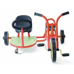 Weplay KM5510 Roller Dreirad mit Pedalen und Seitenwagen, rot, rot (1 Stück)