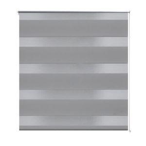 vidaXL Doppelrollo Seitenzug 80 x 150 cm grau