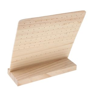 L Typ Unfinished Holz Ohrring Halter Stehen Schmuck Organizer Display Rack