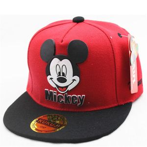 1x Kinder Rot Mickey Mouse Baseball Cap Hut Einstellbar Snapback Sonnenhut Sport Kappe Hüte Schirmmütze Baumwolle
