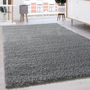 Hochflor Shaggy Langflor Teppich versch. Farben u. Grössen TOP PREIS NEU*OVP, Grösse:140x200 cm, Farbe:Grau