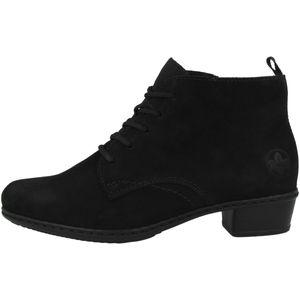 Rieker Y0743 Damen Stiefel Stiefeletten Ankle Boots Leder, Größe:41 EU, Farbe:Schwarz