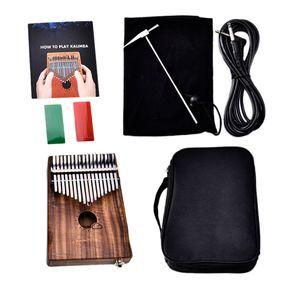 Kalimba Beginner Thumb Piano Afrikanisches Musikinstrument 17 Key Dark Brown