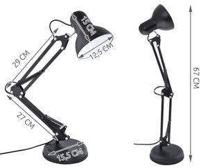 Schreibtischlampe Arbeitsplatzlampe Schreibtisch-Leuchte mit Gelenk-Arm 5177