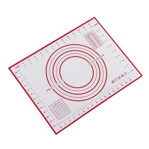 Backmatten Silikon Kuchenteig Kneten Rollen Antihaftfolie 40x30 rot Rot schwarz