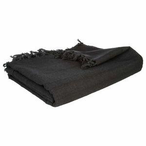 Bettdecke aus Baumwolle, Rosa, perfekte Tagesdecke für Ihr Bett oder Sofa für Ihr Schlafzimmer und Wohnzimmer., Farbe:schwarz