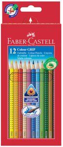FABER-CASTELL Dreikant Buntstifte Colour GRIP 12er Etui