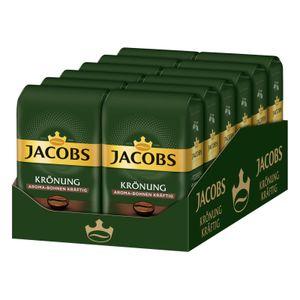 JACOBS Kaffeebohnen Krönung Aroma-Bohne kräftig 12 x 500 g ganze Bohne