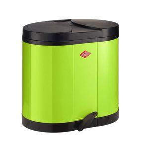 Wesco 170611 Öko-Sammler 2x15 Liter, Farbe: Limettegrün
