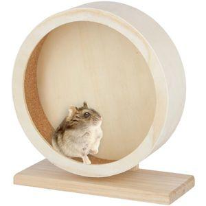 Hamsterlaufrad aus Holz/Kork Kerbl Ø 22cm