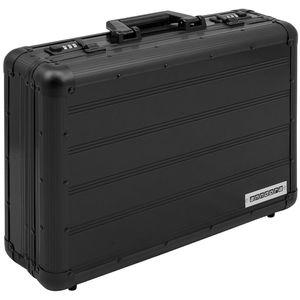 Aktenkoffer Aluminium Attache Koffer schwarz business Zahlenschloss abschließbar - schwarz