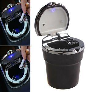 LED Auto Auto Tragbares Auto Rauch Aschenbecher Getränkehalter Sicher und Bequem Neu