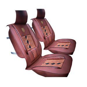 1 Stš¹ck Hochwertigem Leder Ice Silk Auto Vordersitzbezug Universal Fit Atmungsaktive Autositzbezug (Brown Bead fš¹r zuf?llig zu bekommen)