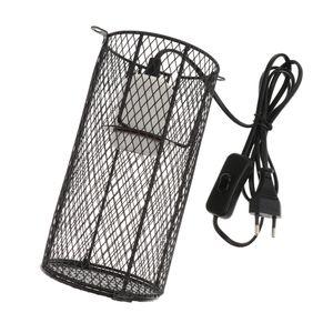 Lampenschutzkorb mit E27 Keramikfassung für Terrarium, schützt Reptilien und Amphibien vor Verbrennungen