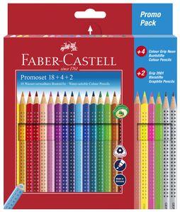 FABER-CASTELL Dreikant-Buntstifte Colour GRIP 24 Stifte im Promoetui