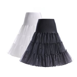 "Boolavard® TM 50er Jahre 26"" Petticoat Reifrock Unter Rock Unterrock Unterrock Reifrock Röcke Vintage Swing APPLELOVE (2Pk L/XL Black White)"