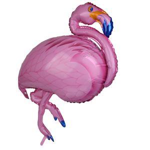 Flamingo Ballon - XXL Riesenballon für Luft und Helium als Geburtstagsgeschenk, Party-Deko oder Überraschung für die Freundin Rosa