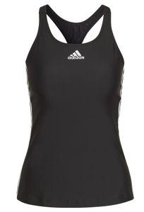 adidas Damen Schwimm SH3.RO Classic 3-Streifen Tankinioberteil schwarz weiss, Größe:38