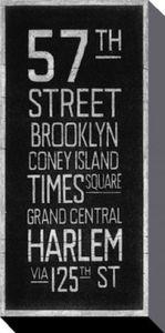 New York Poster Leinwandbild Auf Keilrahmen - Station New York, Barry Goodman (100 x 50 cm)