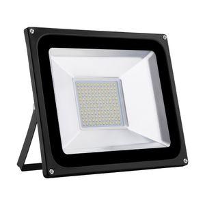 100W LED Strahler 8000LM Außenleuchte LED Fluter Außenstrahler Flutlicht IP65 Flutlichtstrahler Scheinwerfer Warmweiß Licht für Garten, Garage, Sportplatz, Hotel, 1 Stück