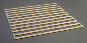 ACCESSORIES Lattenrost 160 x 200 cm Lattenrahmen Rolllattenrost Kiefer