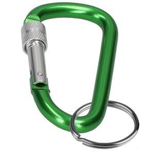Karabinerhaken Schlüssel Karabiner Haken Hundeleine Alu Aluminium Schraubkarabiner Schlüsselanhänger in Grün
