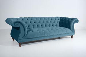 Max Winzer Ivette Sofa 3-Sitzer - Farbe: petrol - Maße: 253 cm x 100 cm x 80 cm; 2994-3880-2044217-F07