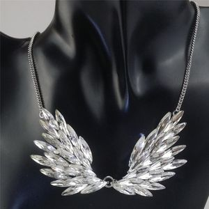 Damen Strass Engelsflügel Halskette Halsschmuck