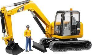 Bruder 02466 CAT Catterpillar Minibagger mit Bauarbeiter Maßstab 1:16